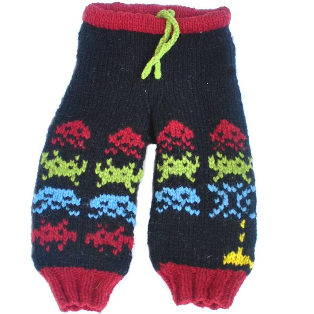 Llamajama Space Invaders Wool Longies