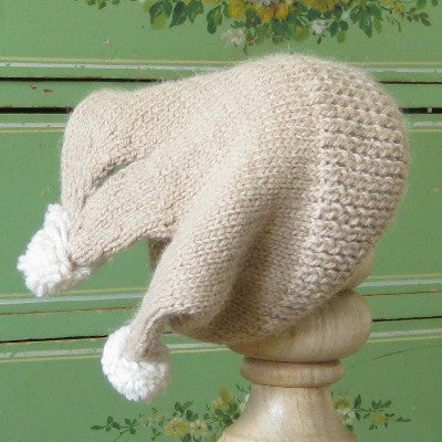 Tan Alpaca Wool Earflap Hat