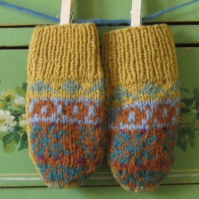 Wave The Flag Wool Fliptop Subway Mittens