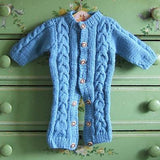 Blue Merino Snuggle Suit