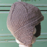 Brown Wool Earflap Hat