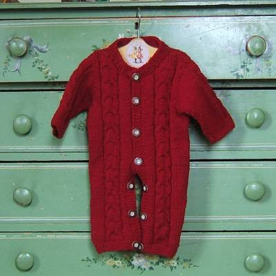 Red Wool Snuggle Suit