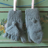 Sage Green Subway Mittens