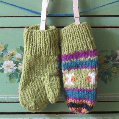 Snap Dragon Wool Mittens