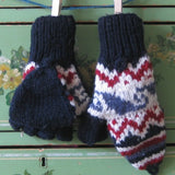 Wool Subway Fliptop Mittens