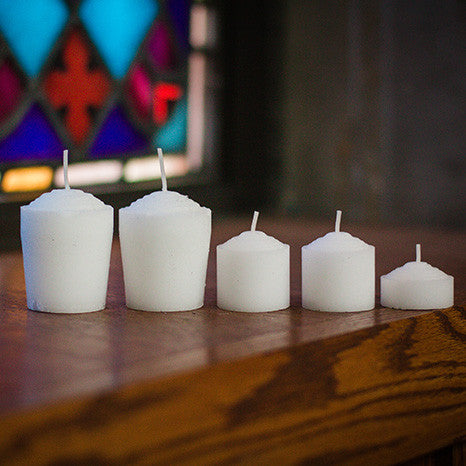 10 Hour Votive Candles With Plastic Sleeve