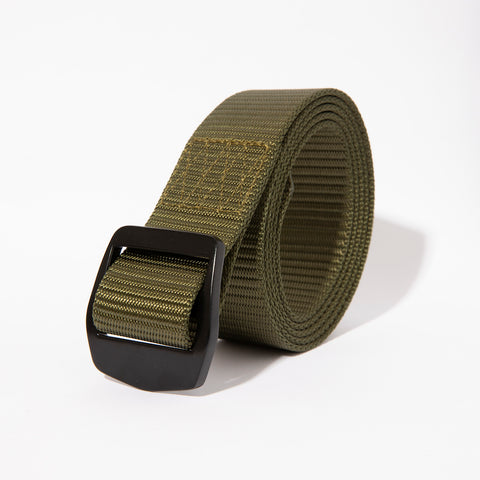 Webbed Belt- Olive