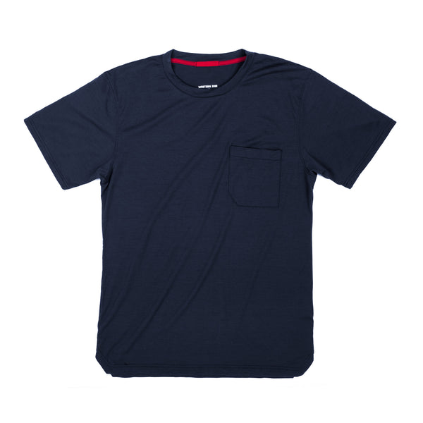 StrongCore Merino Pocket Tee- Midnight