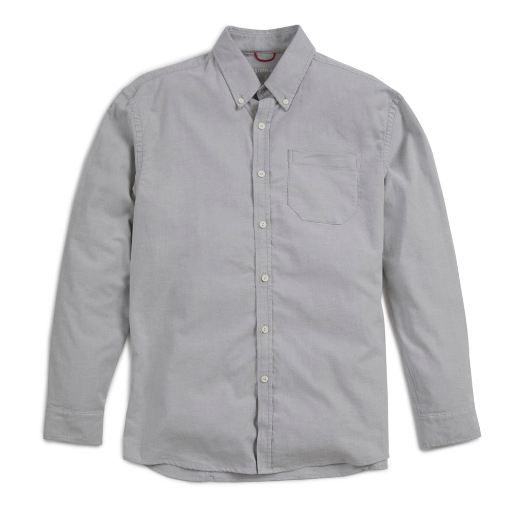 X Cotton Stretch Oxford Shirt- Fog