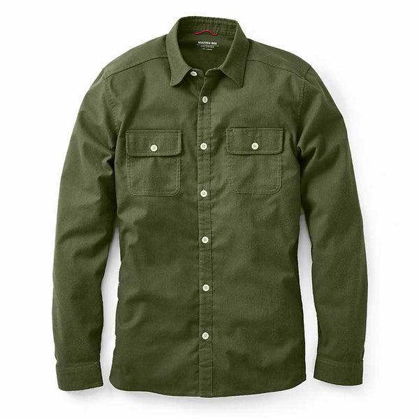Elkton Stretch Wool Flannel - Moss