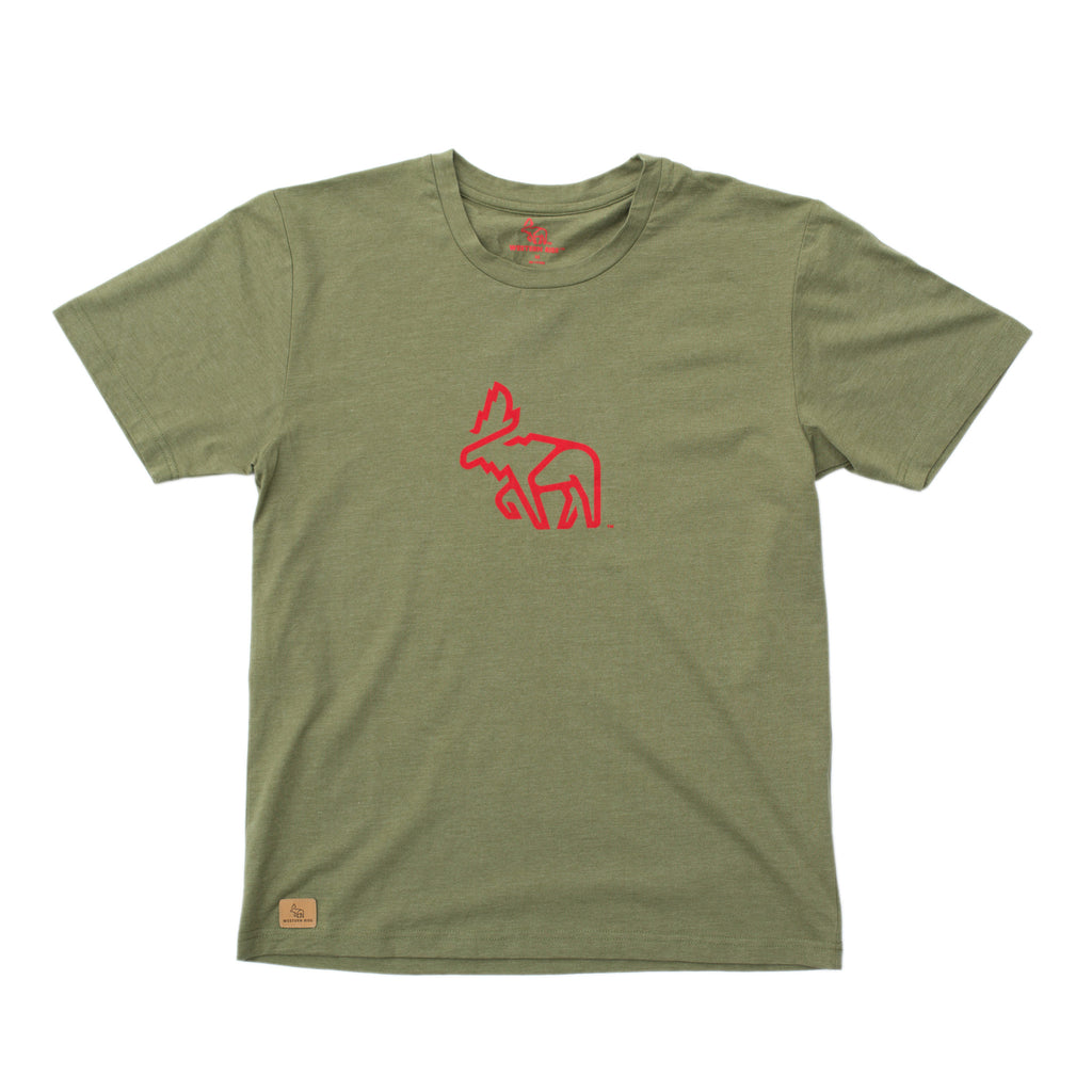 Tomichi T-Shirt™ — Heather Green Moose
