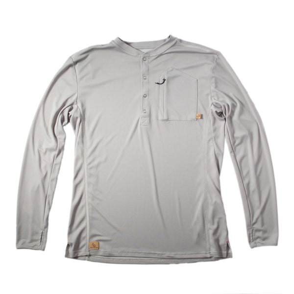 Hartsel Henley™ Ash Grey— FINAL SALE