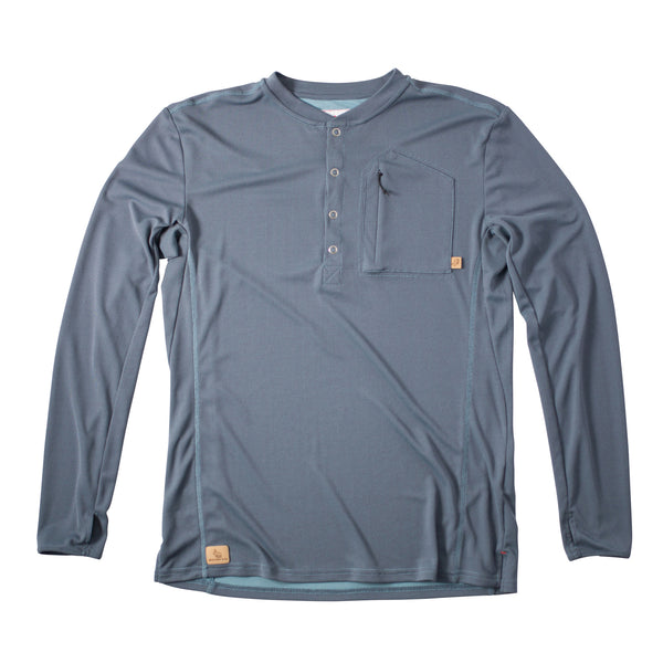 Hartsel Henley™ River Blue- FINAL SALE