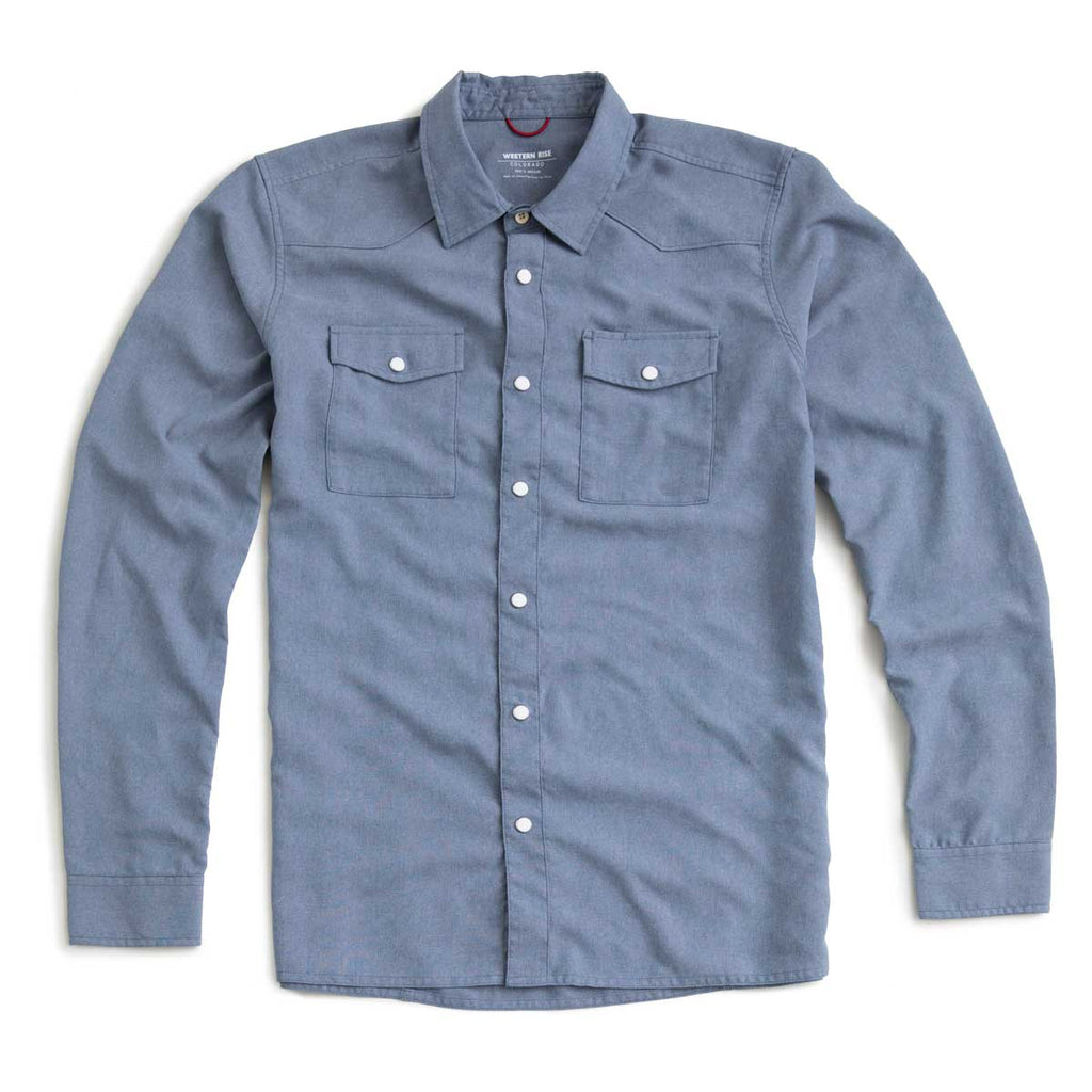 AirLight Western Shirt™ — Washed Denim