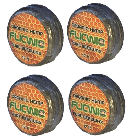 FlicWic Hemp Wick Refill Spools (4 Pack) 48' Total