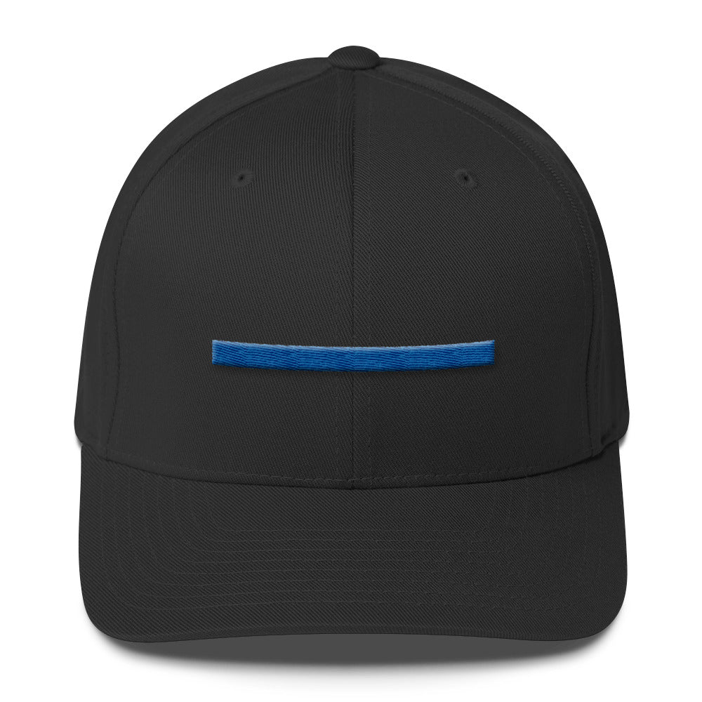 ShowingBlue Thin Blue Line Fitted (White)