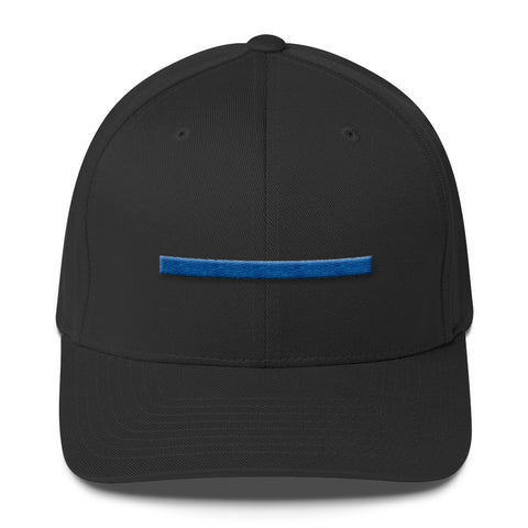 ShowingBlue Thin Blue Line Fitted (Black)