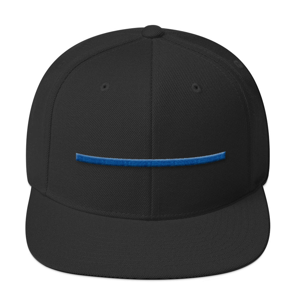 ShowingBlue Thin Blue Line Snapback (Heather Grey/Black)