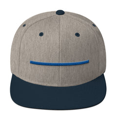 ShowingBlue Thin Blue Line Snapback (Heather Grey)