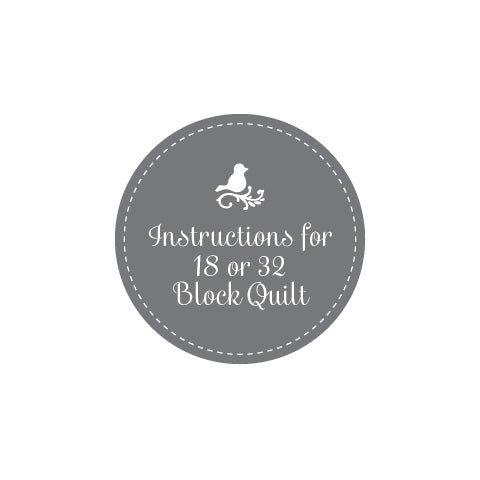 Free Instruction Booklet 18 or 32 quilt