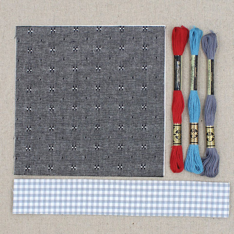 Grey Chambray Fabric