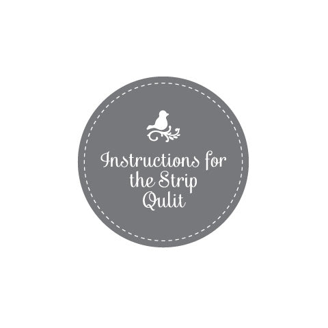 Free Instruction Booklet - Strip Quilt