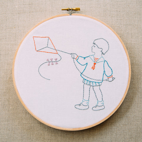 Penny Squares - Boy with Kite