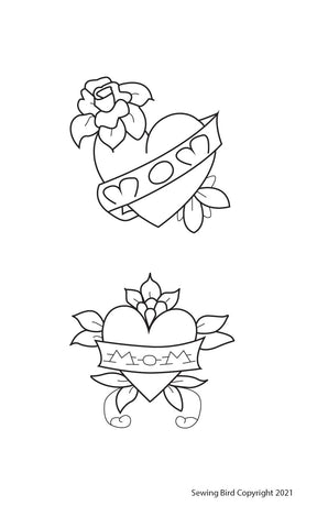 Mom embroidery pattern