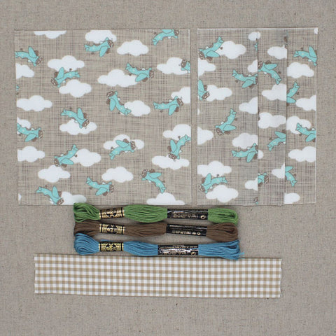 Menagerie baby quilt kit