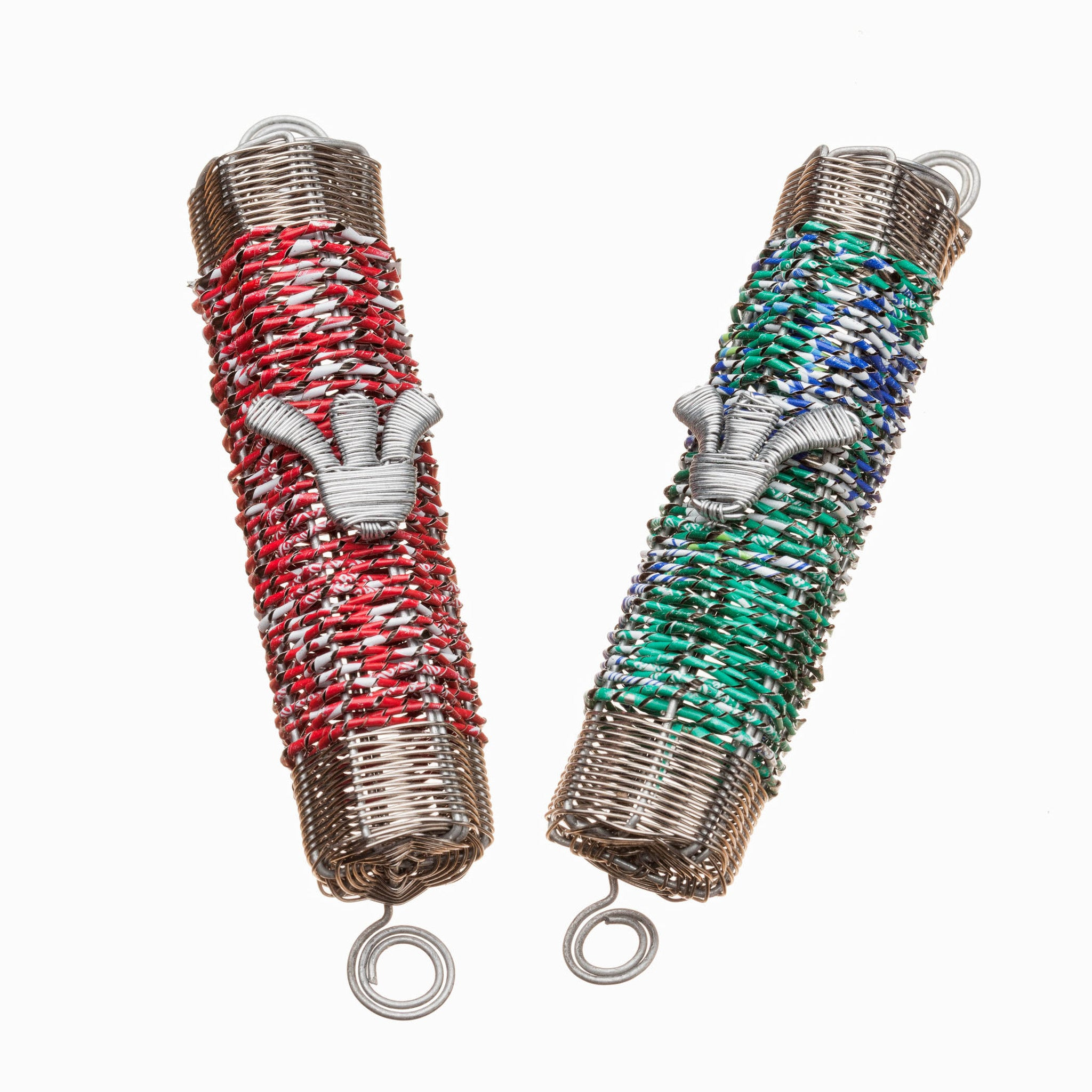 Mezuzah made from recycled soda cans (Sprite)