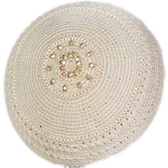 Women's Kippah - Cream Mandala