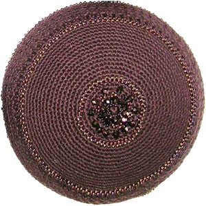 Women's Kippah - Brown Mandala