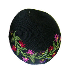Women's Kippah - Black and Red