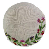 Women's Kippah - Cream and Red