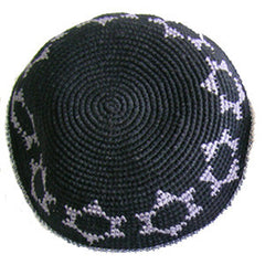 Star of David Kippah - Black