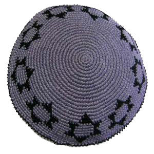 Star of David Kippah - Gray