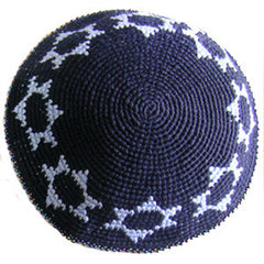 Star of David Kippah - Navy
