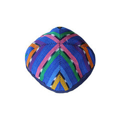 Fabric Kippah - Blues