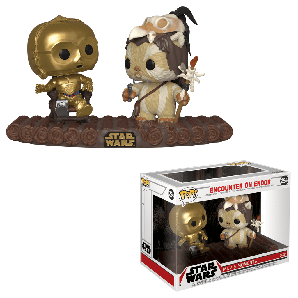 Star Wars Encounter on Endor C-3PO on Throne Movie Moments Funko Pop! Figure