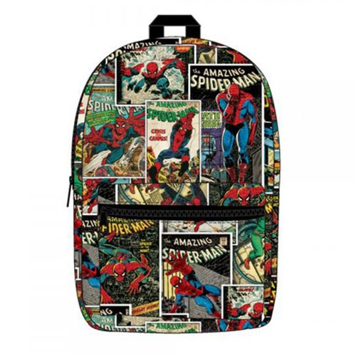 NEW OFFICIAL MARVEL COMICS THE AMAZING SPIDER-MAN COMIC COVER BACKPACK BAG