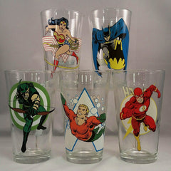 DC Comics Vintage Style Drinking Glass (Toon Tumbler)