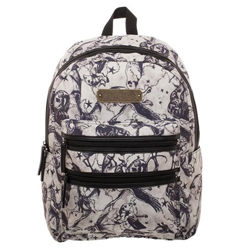 Harry Potter Beast Double Zip Print Nylon Backpack
