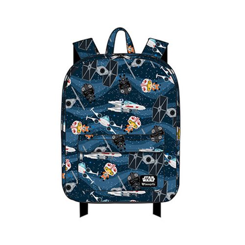 Star Wars Chibi Ships Print Nylon Backpack