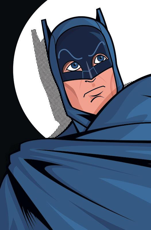 "Batman Caped Crusader Comic-Style Print 11"" x 17"""