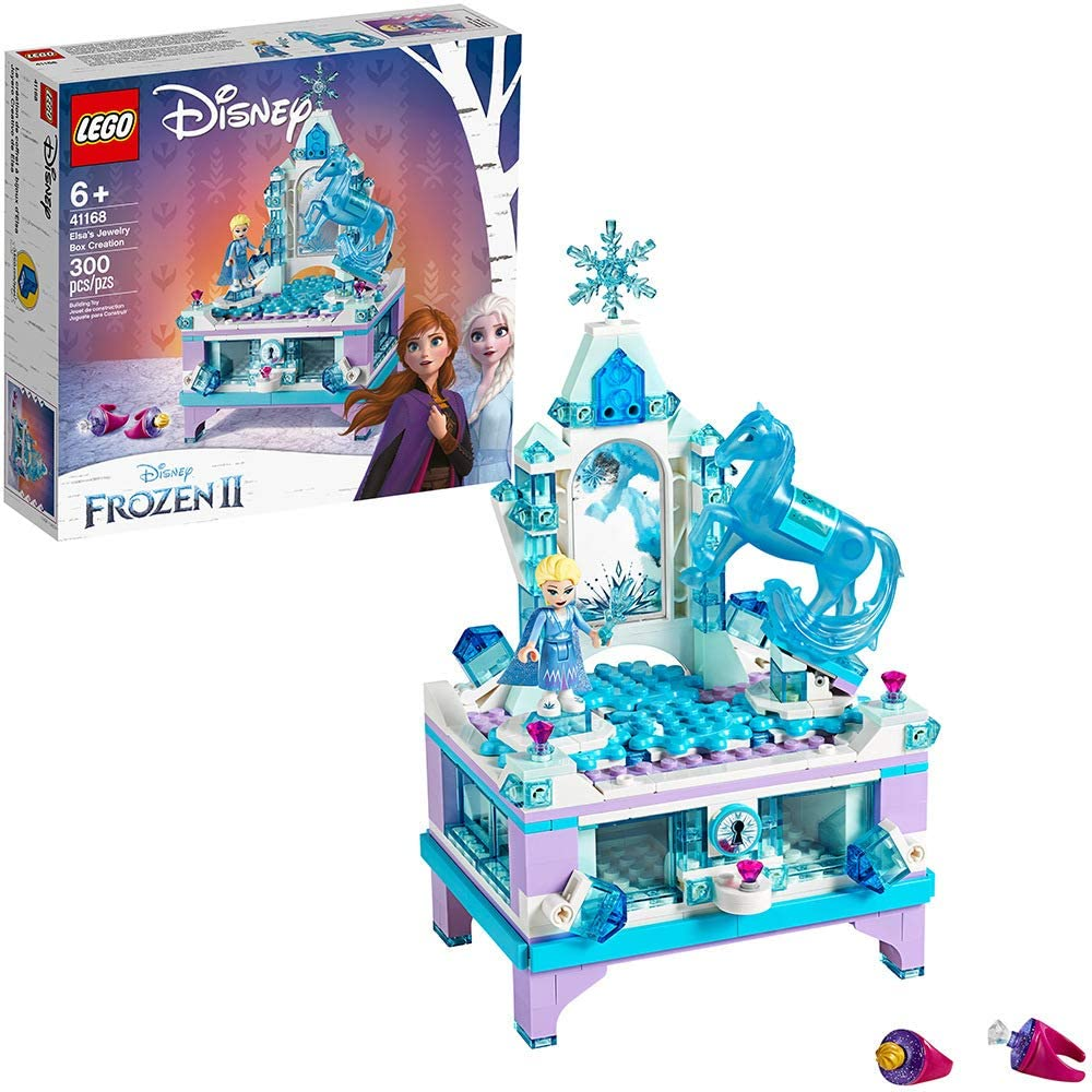 Lego Disney Frozen II Elsa's Jewelry Box Creation Building Kit 41168 w/ Elsa Mini & Nokk Figure (300 Pieces)