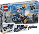 Lego Marvel Avengers Captain America: Outrider's Attack Building Kit 76123 (167 Pieces)