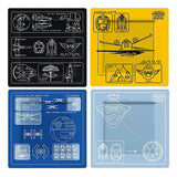 Star Wars Blueprint Plate Set of 4