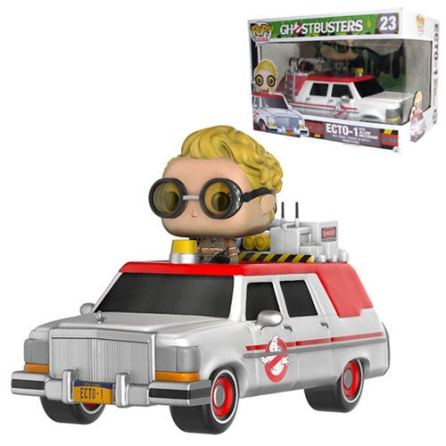 Funko Ghostbusters Ecto-1 Vehicle with Jillian Holtzmann Pop Rides Figure