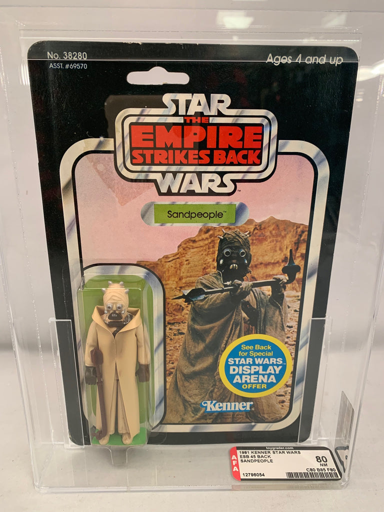 Vintage Kenner Star Wars ESB Sandpeople 45 Back AFA 80