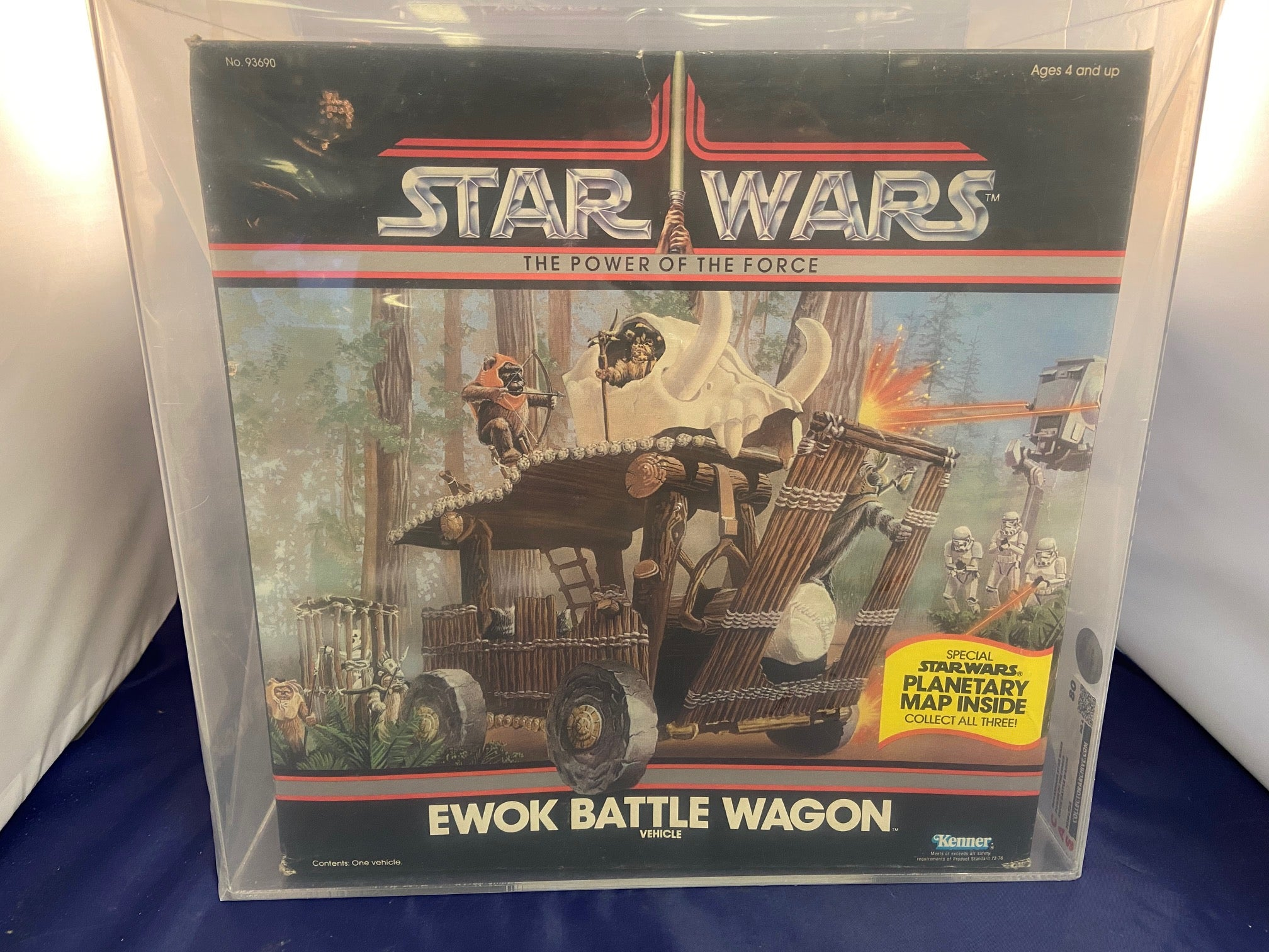 Vintage Star Wars POTF Ewok Battle Wagon Vehicle CAS 80 MIB